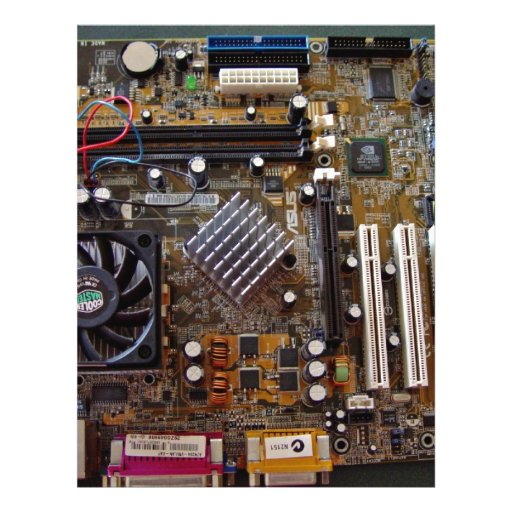 ATX motherboard view from above Custom Flyer