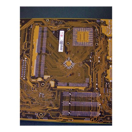 ATX motherboard view from solder side Flyers