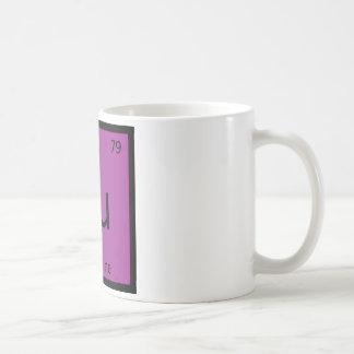 Au - Aubergine Eggplant Chemistry Periodic Table Basic White Mug