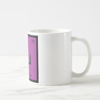 Au - Aubergine Eggplant Chemistry Periodic Table Coffee Mug