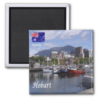AU - Australia - Hobart Square Magnet