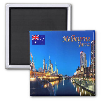 AU - Australia - Melbourne - Yarra Twilight Square Magnet