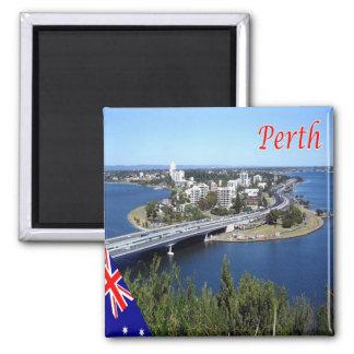 AU - Australia - Perth - Panorama Square Magnet