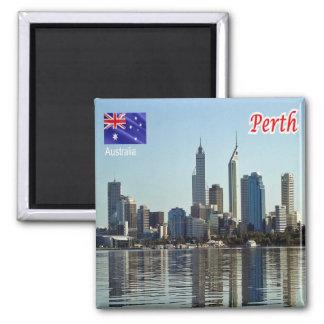 AU - Australia - Perth Square Magnet