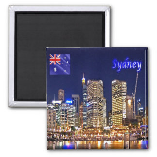 AU - Australia - Sydney - Darling Harbour by Night Magnet
