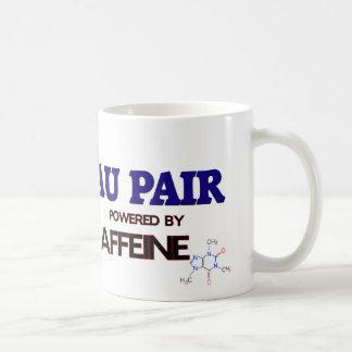 Au Pair Powered by caffeine Mug
