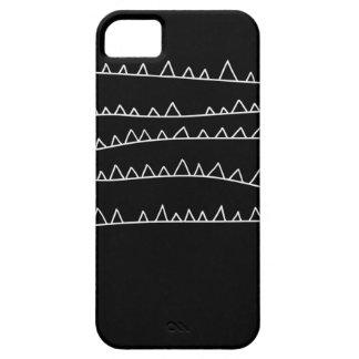 Aubergine Fox Jagged Lines Design iPhone 5/5S case