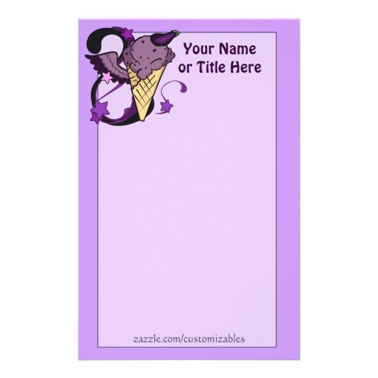 Aubergine Ice Cream Stationery