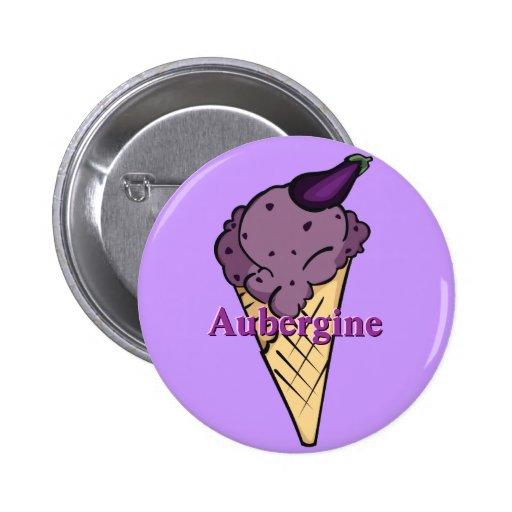 Aubergine Icecream Button