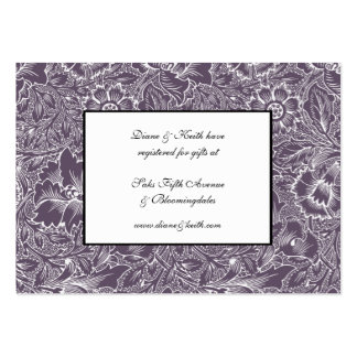 Aubergine Lilac RSVP & Gift Registry 100 pack set Business Card Template