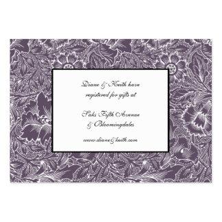 Aubergine Lilac RSVP & Gift Registry 100 pack set Business Card Template