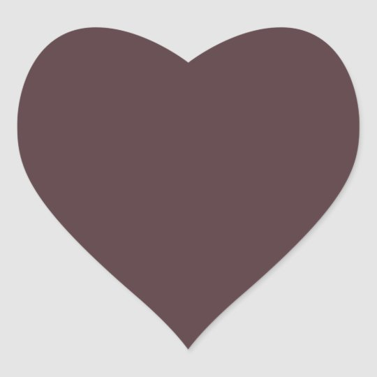 Aubergine Purple Eggplant Plum French Chateau Heart Sticker