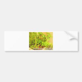 Aubergines & Marigold Car Bumper Sticker