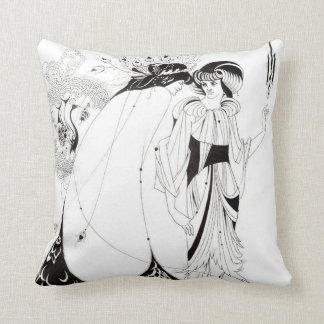 Aubrey Beardsley The Peacock Skirt Pillow