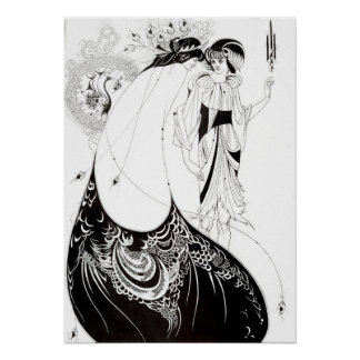 Aubrey Beardsley The Peacock Skirt Poster