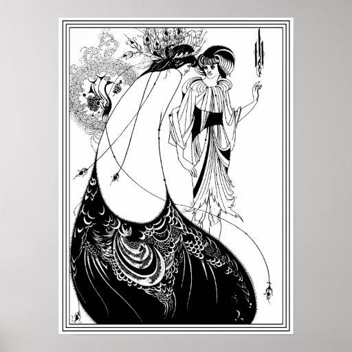Aubrey Beardsley - The Peacock Skirt Poster