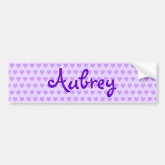 Aubrey in Purple Bumper Sticker