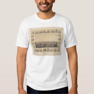 Auburn, California 1857 Panoramic Map (2508A) Tee Shirt