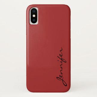 Auburn color background iPhone x case