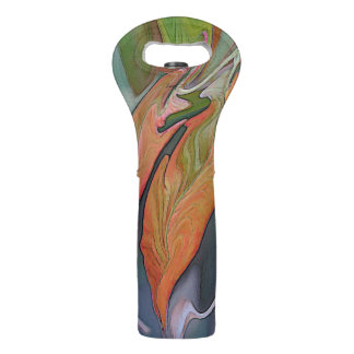 Auburn Equinox Abstract Wine Tote By Suzy 2.0