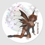 Auburn Fairy Round Stickers