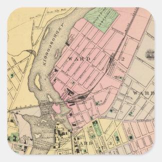 Auburn, Lewiston Square Sticker