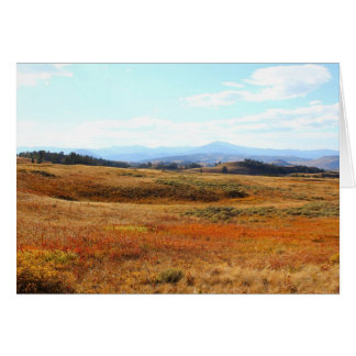 Auburn Yellowstone countryside Greeting Card