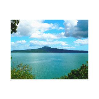 Auckalnd perfect Rangitoto Island, Hauraki Gulf Gallery Wrapped Canvas