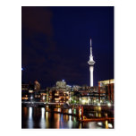 Auckland City, New Zealand at Night Post Card