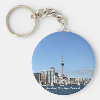 Auckland City, New Zealand by Day Key Ring
