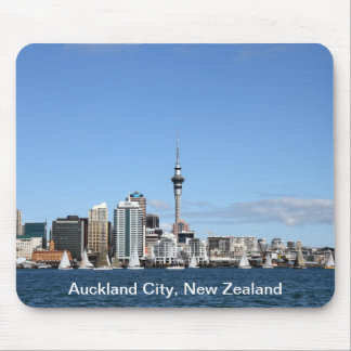 Auckland City, New Zealand by Day Mouse Mat