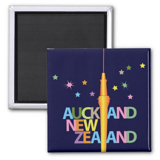 Auckland City New Zealand Refrigerator Magnets