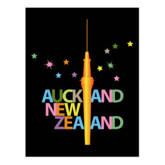Auckland City New Zealand Postcard
