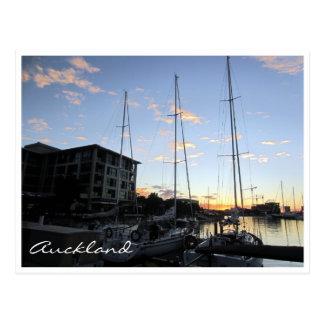 auckland harbour masts postcards