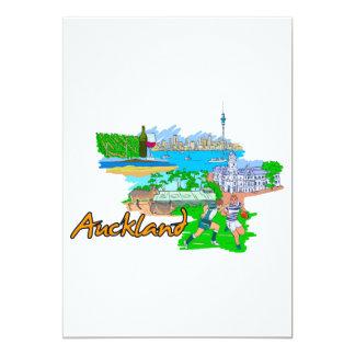 Auckland - New Zealand 13 Cm X 18 Cm Invitation Card