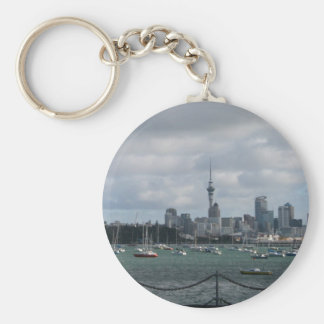 Auckland, New Zealand Basic Round Button Key Ring