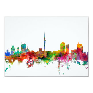 Auckland New Zealand Skyline 13 Cm X 18 Cm Invitation Card