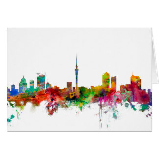 Auckland New Zealand Skyline Card