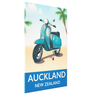 Auckland new zealand travel poster canvas print