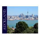 auckland nz skyline postcard