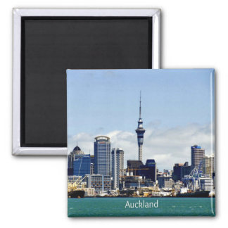 Auckland Skyline Square Magnet
