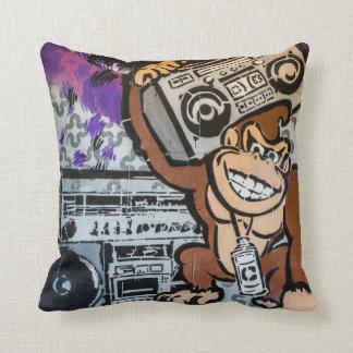 Auckland street art / grafitti throw pillow
