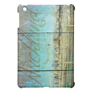 Auckland Waterfront On Old Wood Case For The iPad Mini