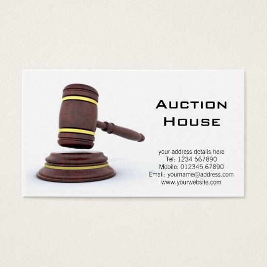 Auction House Business Card