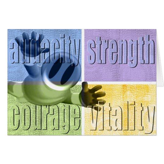 Audacity Strength Courage & Vitality Notecard