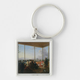 Audience Given in Constantinople Silver-Colored Square Key Ring