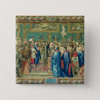 Audience Granted by Louis XIV  to the Count 15 Cm Square Badge
