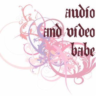 Audio and Video Babe Photo Sculpture Decoration
