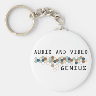 Audio and Video Genius Key Ring