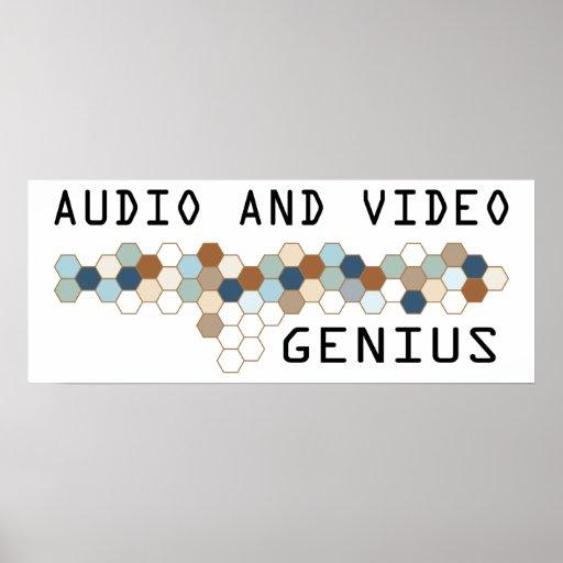 Audio and Video Genius Poster
